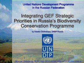 United Nations Development Programme  in the Russian Federation