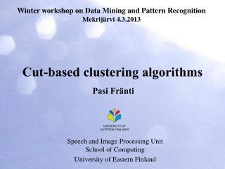 Cut-based clustering algorithms