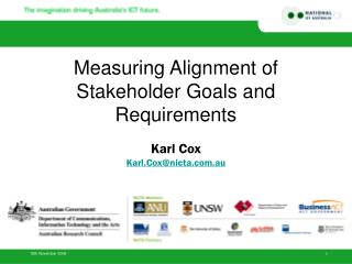 Measuring Alignment of Stakeholder Goals and Requirements Karl Cox Karl.Cox@nicta.au
