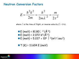 Neutron Conversion Factors