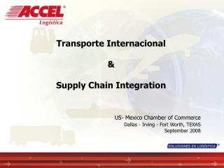 Transporte Internacional  &  Supply Chain Integration