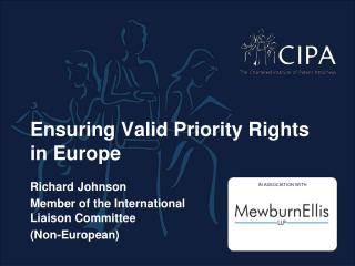 Ensuring Valid Priority Rights in Europe