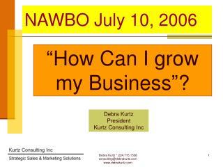 NAWBO July 10, 2006