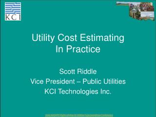 Utility Cost Estimating In Practice