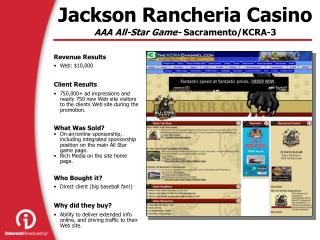 Jackson Rancheria Casino AAA All-Star Game-  Sacramento/KCRA-3