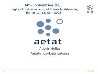 APS-Konferansen 2005  i regi av Arbeidsmarkedsbedriftenes landsforening Hamar 11.-12. April 2005