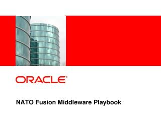 NATO Fusion Middleware Playbook