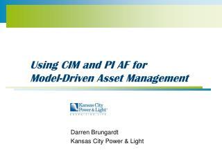 Using CIM and PI AF for Model-Driven Asset Management