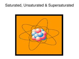 Saturated, Unsaturated & Supersaturated