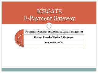 ICEGATE E-Payment Gateway