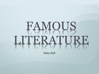 Famous Literature