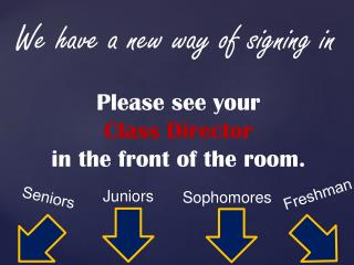 We have a new way of signing in