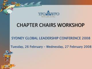 CHAPTER CHAIRS WORKSHOP