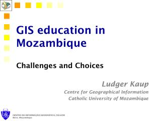 GIS education in Mozambique