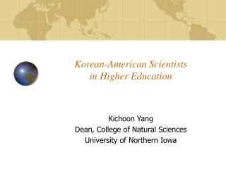 Korean-American Scientists in Higher Education