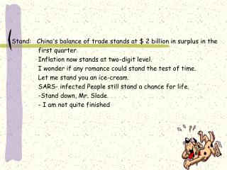 Stand:   China � s balance of trade stands at $ 2 billion in surplus in the