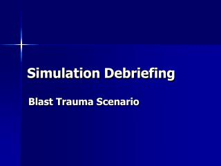 Simulation Debriefing