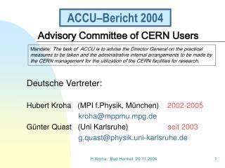 ACCU–Bericht 2004