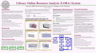 Library Online Resource Analysis (LORA) System