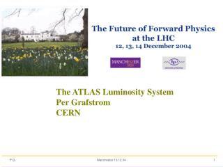 The ATLAS Luminosity System Per Grafstrom CERN