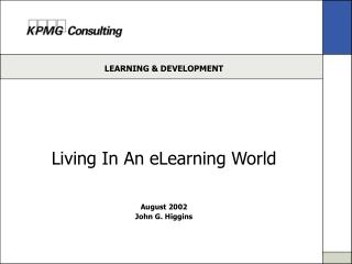 Living In An eLearning World