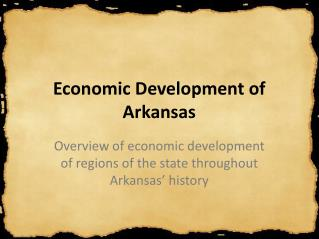 Economic Development of Arkansas