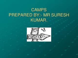 CAMPS     PREPARED BY:- MR SURESH KUMAR.