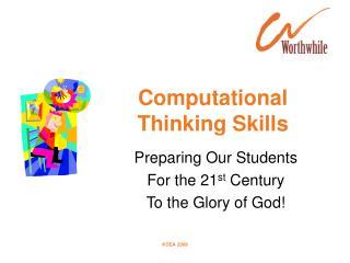 Computational  Thinking Skills