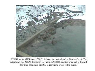 GC intake - 528.55 feet