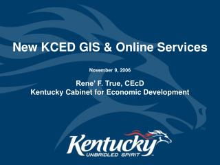 New KCED GIS & Online Services