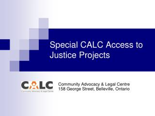 Special CALC Access to Justice Projects