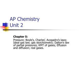 AP Chemistry Unit 2
