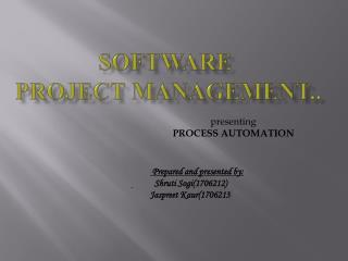 Software  Project Management..