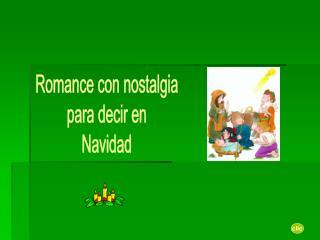 Romance con nostalgia  para decir en  Navidad