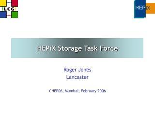 HEPiX Storage Task Force