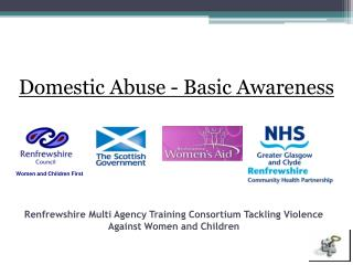 Renfrewshire Multi Agency Training Consortium Tackling Violence Against Women and Children