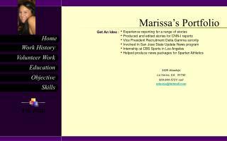Marissa's Portfolio