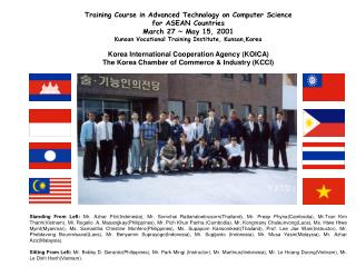 Training Course in Advanced Technology on Computer Science  for ASEAN Countries