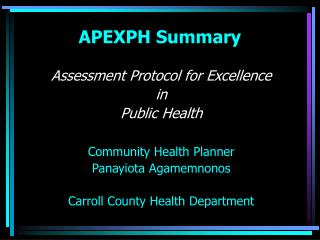 APEXPH Summary
