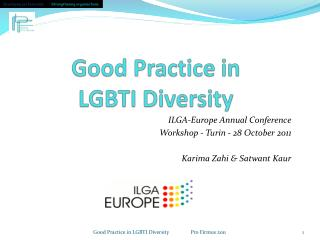 Good Practice in  LGBTI  Diversity