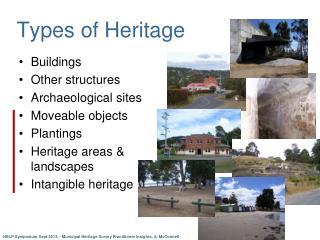 Types of Heritage