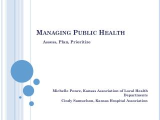 Managing Public Health