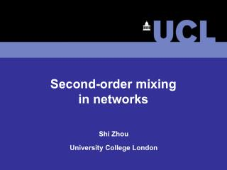 Second-order mixing in networks