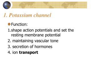 1. Potassium channel