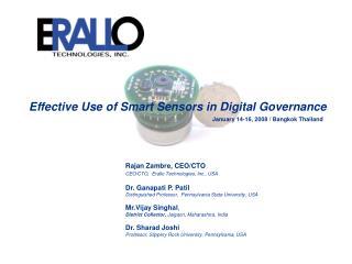 Effective Use of Smart Sensors in Digital Governance