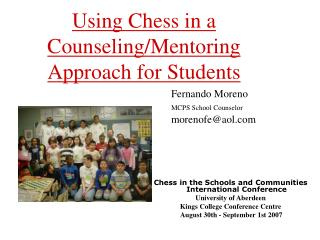 Using Chess in a Counseling/Mentoring  Approach for Students