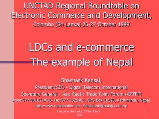 UNCTAD Regional Roundtable on Electronic Commerce and Development,