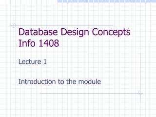 Database Design Concepts Info 1408