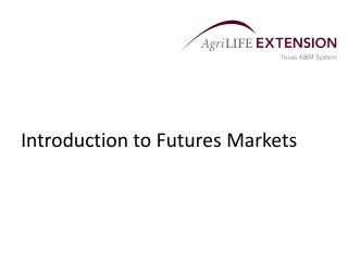 Introduction to Futures Markets