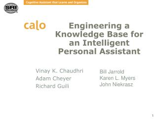 Engineering a Knowledge Base for an Intelligent Personal Assistant